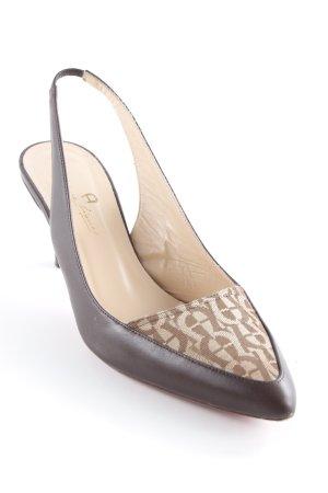 Aigner Slingback-Pumps schwarzbraun-beige Elegant