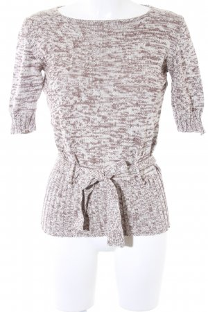 Aigner Knitted Jumper cream-light brown flecked casual look