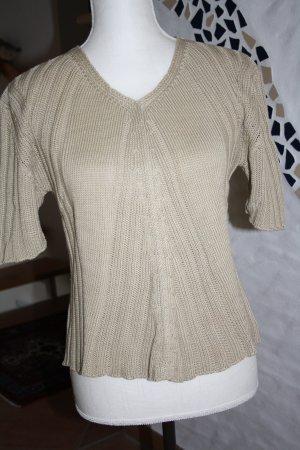 Aigner T-Shirt / Baumwoll-Strickpullover / Gr. L (40) / beige / NEU !