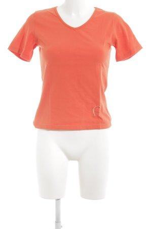 Aigner Camiseta naranja neón estilo sencillo