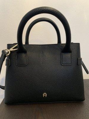 Aigner Handbag black-gold-colored leather