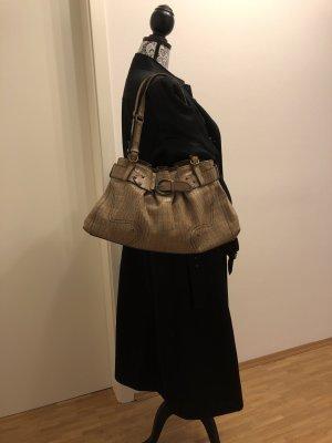 AIGNER Tasche aus Leder mit Krokoprägung mit passendem Staubbeutel