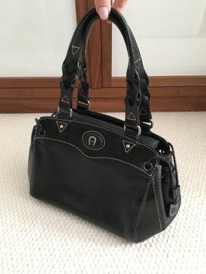 Aigner Tasche, Handtasche, 100% Leder, schwarz