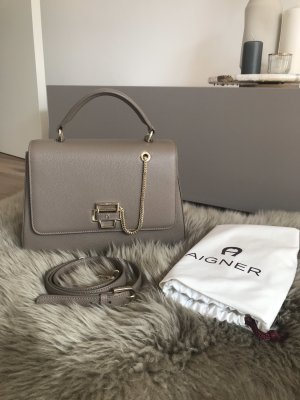 Aigner Handbag taupe-gold-colored leather