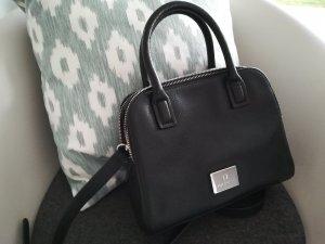 neue auswahl heißes Produkt Top-Mode Aigner Tasche Leder Schwarz wie neu Silber
