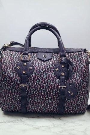 Aigner Tasche lila Handtasche Damentasche bunt
