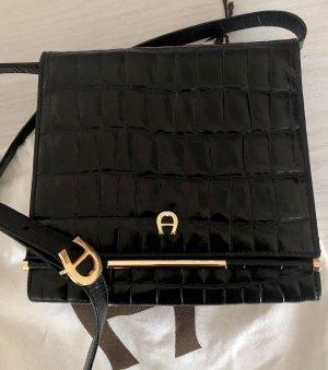 Aigner Gekruiste tas zwart-goud