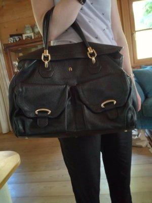 Aigner Tasche schwarz Leder