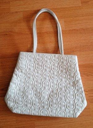 Aigner Tasche Umhängetasche Handtasche weiß Vintage