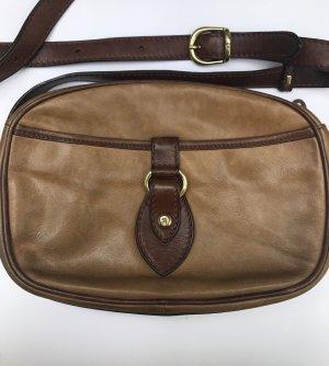 Aigner Tasche Vintage Leder Beige Braun