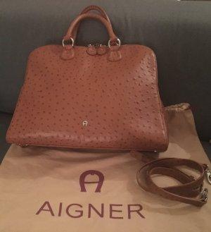 Aigner Tasche Zip Up in Cognac