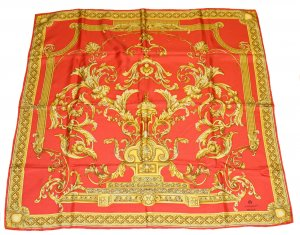 Aigner Silk Cloth red-yellow silk
