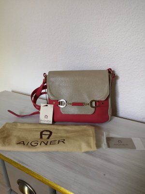 Aigner Crossbody bag magenta leather