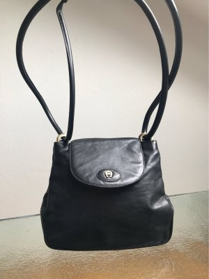 Aigner Crossbody bag black-gold-colored leather