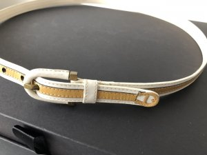 Aigner Leather Belt natural white-camel leather