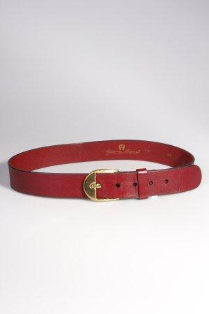 Aigner Vintage-Gürtel weinrot