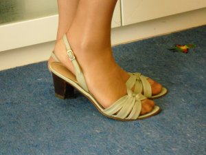 AIGNER Vintage Sandaletten Gr 39 Echtleder