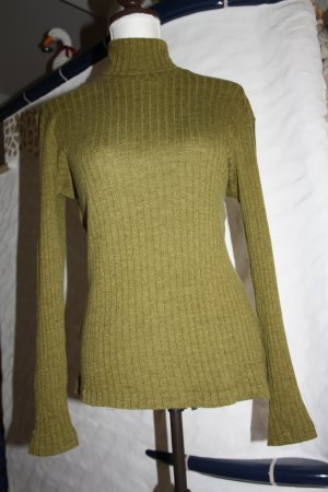 Aigner Turtleneck Sweater olive green wool