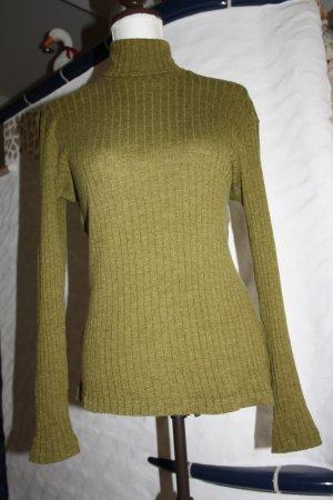 Aigner Turtleneck Sweater olive green wool