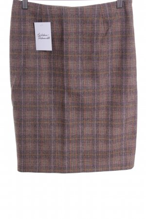 Aigner Wool Skirt check pattern business style