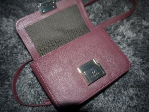 Aigner Mini Bag bordeaux-brown red leather