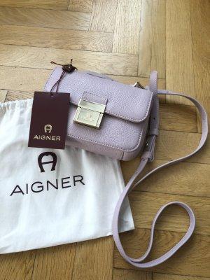 Aigner Zoe Mini Crossbody Tasche NEU Leder Farbe Mauve
