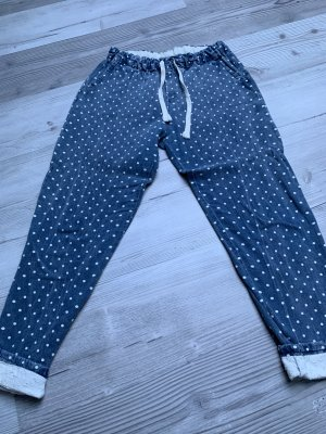 Aaiko Baggy Jeans white-blue