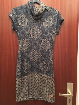 Aiko Woolen Dress slate-gray-grey brown