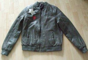 Leather Jacket grey leather
