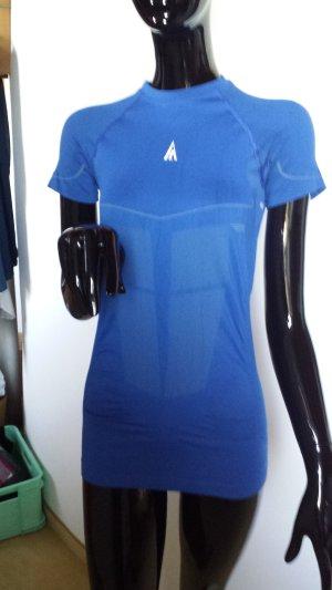 AIM Sportshirt, kräftiges blau, eng anliegend, Gr M,