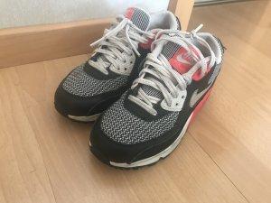 Nike Zapatillas negro-rojo neón