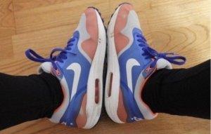 Air Max One blau, orange, weiß