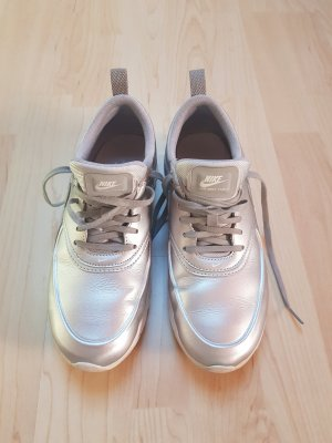 Nike Lace-Up Sneaker silver-colored leather