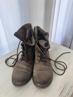 Air Step Boots mit Schnürung