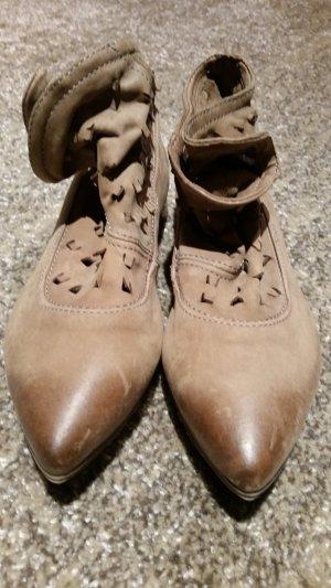 Air Step Scarpina di lana marrone chiaro