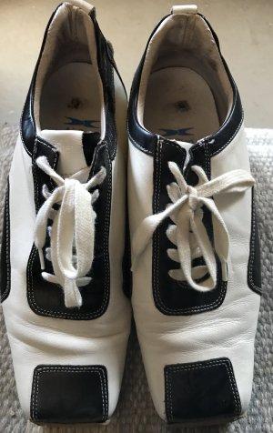 Air Step Lace Shoes white-black