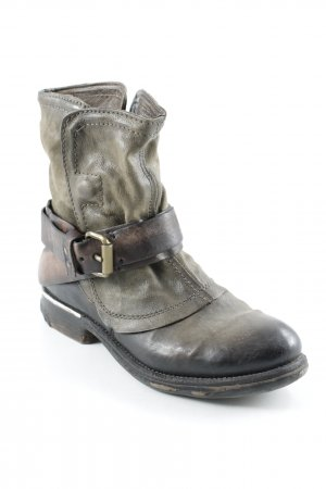 Air Step Western Booties black brown-green grey country style