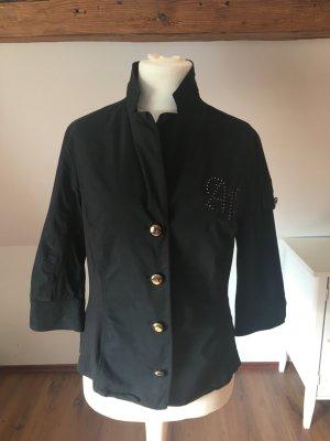 Airfield 42 schwarz Bluse Blazer Shirt L Jäckchen