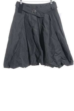 Airfield Ballonrock grau-schwarz Streifenmuster Casual-Look