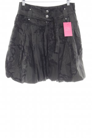 Airfield Balloon Skirt black-dark green graphic pattern casual look