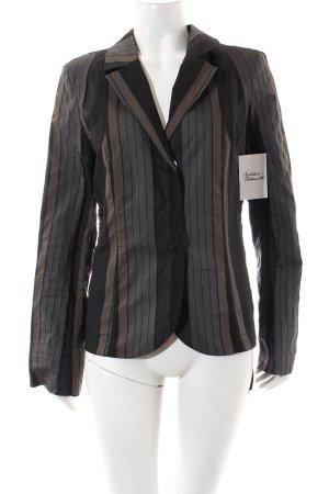 Airfield Blazer schwarz-hellbraun Streifenmuster Street-Fashion-Look