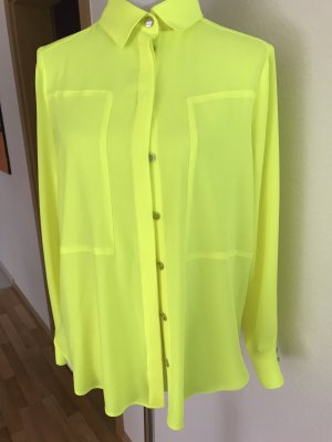 Airfield Long Sleeve Blouse neon yellow polyester