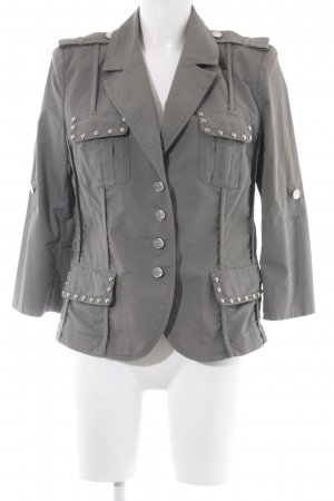 Airfield Boyfriend Blazer green grey casual look