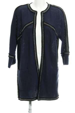 Airfield Cardigan blu scuro-nero stile stravagante