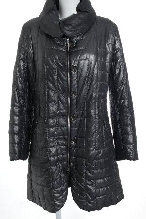 Airfield Manteau en duvet noir-argenté imprimé allover style décontracté