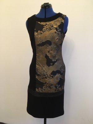 Airfield Wollen jurk zwart-goud
