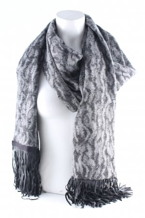 Airfield Fringed Scarf dark grey-black abstract pattern casual look