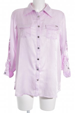 Airfield Glanzbluse rosé Glanz-Optik