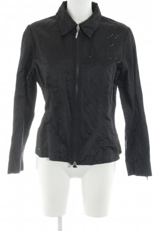 Airfield Glanzende blouse zwart wetlook