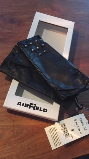Airfield Guantes negro-color plata